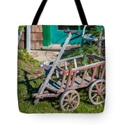 Old Wagon Tote Bag by Guy Whiteley