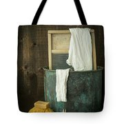 Old Washboard Laundry Days Tote Bag by Edward Fielding