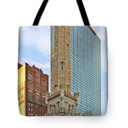 Old Water Tower Chicago Tote Bag by Christine Till