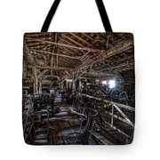 OLD WEST WAGON STORAGE and SHOP Tote Bag by Daniel Hagerman
