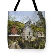 Old Weston Grain Elevator  Tote Bag by Liane Wright