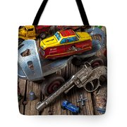 Older roller skate and toys Tote Bag by Garry Gay