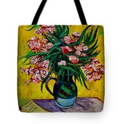 Oleanders Tote Bag by Karon Melillo DeVega