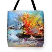 Olympics Canoe Slalom 05 Tote Bag by Miki De Goodaboom