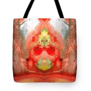 Om - Red Meditation - Abstract Art By Sharon Cummings Tote Bag by Sharon Cummings