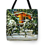 On A Winter Day Tote Bag by Steve Harrington