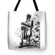 On Duty In Brigadoon  No Ch101 Tote Bag by Kip DeVore