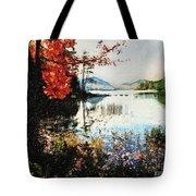 On Jordan Pond Tote Bag by Lianne Schneider