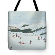 On The Slopes Tote Bag by Judy Joel