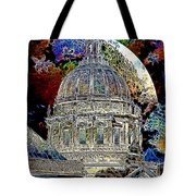 Once Upon A Time On A Warm Summers Night In San Francisco 5d22548 Artwork Tote Bag by Wingsdomain Art and Photography