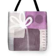 One Flower- Contemporary Painting Tote Bag by Linda Woods