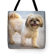 One Happy Little Dog Tote Bag by Lainie Wrightson