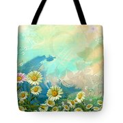 One Pink Daisy Tote Bag by Bedros Awak