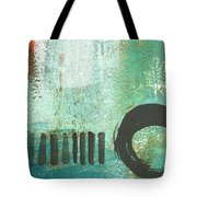 Open Gate- Contemporary Abstract Painting Tote Bag by Linda Woods