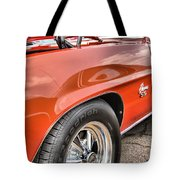 Orange Chevelle Ss 396 Tote Bag by Dan Sproul