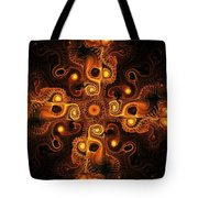 Orange Cross Tote Bag by Anastasiya Malakhova