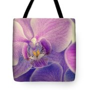 Orchid Lilac Dark Tote Bag by Hannes Cmarits