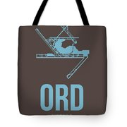 Ord Chicago Airport Poster 2 Tote Bag by Naxart Studio