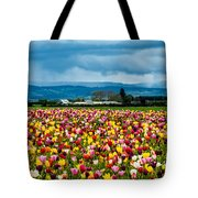 Oregon Tulip Farm - Willamette Valley Tote Bag by Gary Whitton