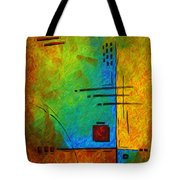 Original Abstract Painting Digital Conversion For Textured Effect Resonating IIi By Madart Tote Bag by Megan Duncanson