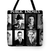 Original Gangsters - Public Enemies Tote Bag by Paul Ward
