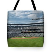 Oriole Park At Camden Yards Stadium Tote Bag by Susan Candelario