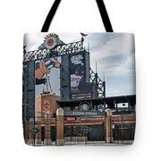 Oriole Park At Camden Yards Tote Bag by Susan Candelario