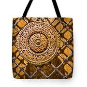 Ornate Door Knob Tote Bag by Carolyn Marshall