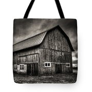 Oslo Corner In Black And White Tote Bag by Thomas Young