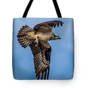 Osprey Flying Away Tote Bag by Robert Bales