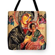 Our Lady Of Perpetual Help Icon Tote Bag by Ryszard Sleczka