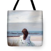 Overlooking The Sea Tote Bag by Joana Kruse