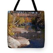 PACKARD HILL BRIDGE Lebanon New Hampshire Tote Bag by Edward Fielding