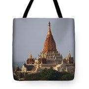 Pagoda In Bagan, Upper Burma Myanmar Tote Bag by Chris Caldicott