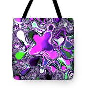 Paint ball Color Explosion Purple Tote Bag by Andee Design