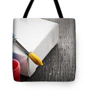 Paintbrush On Canvas Tote Bag by Elena Elisseeva