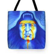 Painted Bear Tote Bag by Robert Martinez