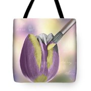 Painting A Tulip Tote Bag by Amanda And Christopher Elwell