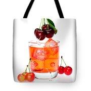 Painting On Sweet Cherries Miniature Art Tote Bag by Paul Ge