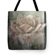 Pale Rose Photoart Tote Bag by Debbie Portwood