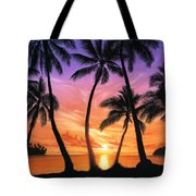 Palm Beach Sundown Tote Bag by Andrew Farley