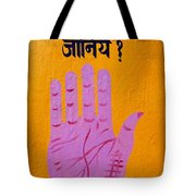 Palm Reading Sign In Rishikesh Tote Bag by Robert Preston