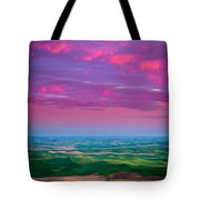 Palouse Fiery Dawn Tote Bag by Inge Johnsson