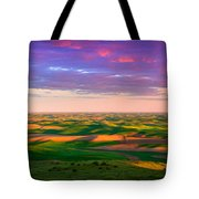 Palouse Land And Sky Tote Bag by Inge Johnsson