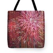 Panama Fireworks Tote Bag by Bob Hislop