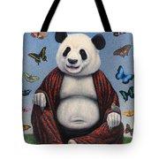Panda Buddha Tote Bag by James W Johnson