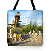 Panning For Gold In Chicken-ak- Tote Bag by Ruth Hager