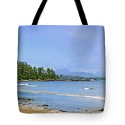 Panorama of Pacific coast on Vancouver Island Tote Bag by Elena Elisseeva