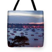 Panoramic Of The Marblehead Illumination Tote Bag by Jeff Folger