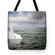 Paper Boat Tote Bag by Carlos Caetano